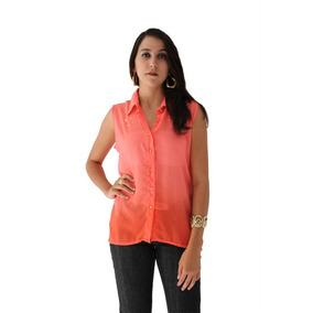 Camiseta Com Taxas E Botões Laranja