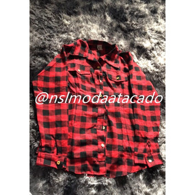 65f20dd3d89ba Camisa Feminina Xadrez Tecido Flanela P M G (veste Até 44)