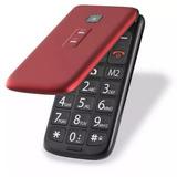 Celular Idoso Flip Vita Multilaser Vermelho P9021