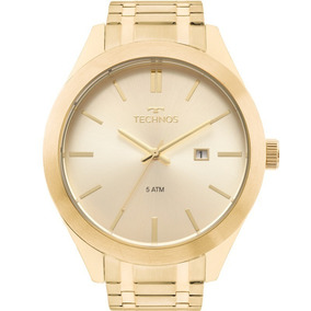 Relógio Technos Masculino Steel Dourado 2115mnp/1d Original