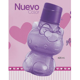 Botella Ecotwist Tupperware Hello Kitty Morado Glitter 425ml