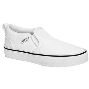 Padrisimos Y Casuales Tenis Vans Originales Color Blanco
