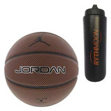 Kit Bola Basquete Nike Jordan Legacy + Squeeze Automático 1l