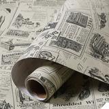 Papel Adhesivo Empapelar Lavable Periódico Diario Vintage 60
