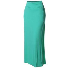 518b8c135a Falda Larga Para Mujer Plegable Color Menta De Made By Emma