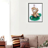 Golf Gato Diamante Pintura Colorido Pintura Abstracto Decora