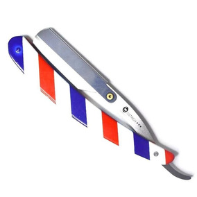 Navalha Navalhete Barbeiro Inox Profissional Pole Barber