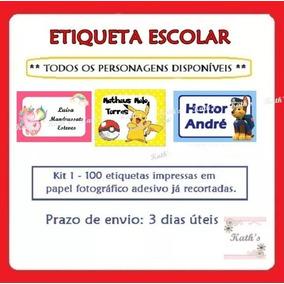 100 Etiquetas P/material Escolar Personalizadas-frete Gratis
