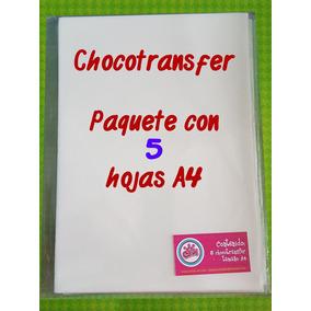 Paquete 5 Hojas De Chocotransfer Tamaño A4