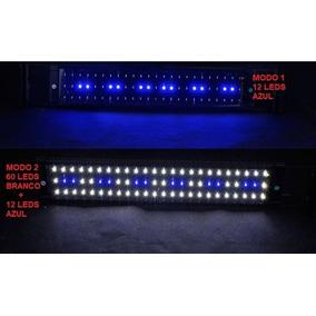 Luminária Para Aquário Azul E Branco Led Aquário 50~ 70cm