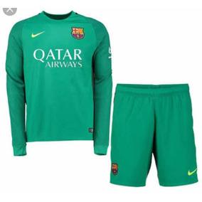 Uniforme Goleiro Barcelona Infantil + Meião - Personalizado 0a3b80f769edc