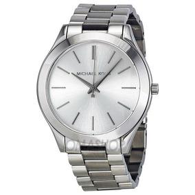 17fe6c11f36f8 Relogio Michael Kors Slim Prata - Relógios no Mercado Livre Brasil