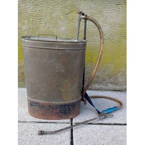 Antiguo Fumigador Pulverizador Mochila De Bronce San Justo