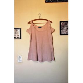 Blusa Bata Plus Size Cor Bege Nude Com Ombros À Mostra Gg