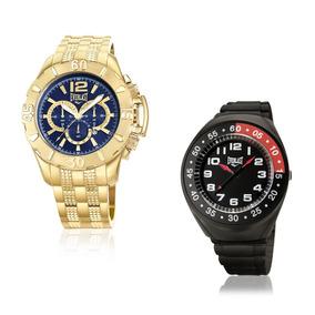 Relógio Everlast Masculino Dourado Analógico E566