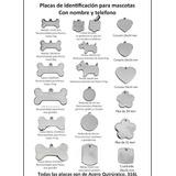 Medalla/placa Identificación Mascotas Acero Quirúrgico