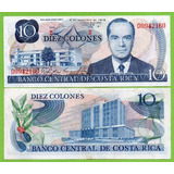 Billete De Costa Rica 10 Colones 1972, Serie-d , P-237a* Mlc
