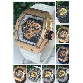 Relógio Masculino Varios Cores Dourado Aço Na Caixa Top!!