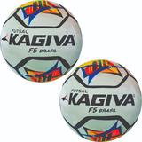 Kit Bola De Futsal F5 Brasil Kagiva Profissional - 02 Bolas