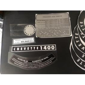 Adesivos Calota Botão Buzina Kit Chevette Tubarão 7382 Compl