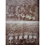 F. Grabado Antiguo 1942 Equipos Atlante Y Necaxa De Futbol