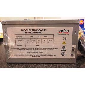 Fuente Overtech Gt-6500 500w Atx Pc