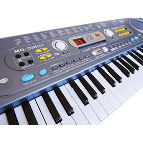 Teclado Musical Infantil 54 Teclas+microf+fonte+ Frete-018uf