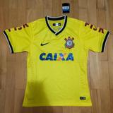 Camisa Corinthians 2014 M Nike Etiqueta Amarela 00636a1683872