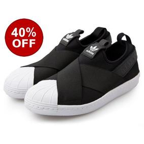 Tenis adidas Slip On Superstar Unisex Original Black 735d1c598b82a