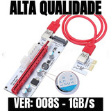 Kit 6 Placa Riser Card Pci-e Entrega Rápida