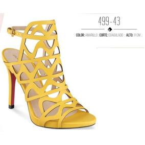 Zapatos Cklass Gala Glamour Amarillo 499-43 Primavera 2018