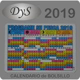 Almanaque, Calendarios De Bolsillo Pesca 2019 En Blanco