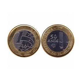Moeda 1 Real Fc Comemorativa Aos 50 Anos Banco Central