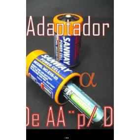 Adaptador De Pilha Aa Para D, Kit Com 10 Unidades