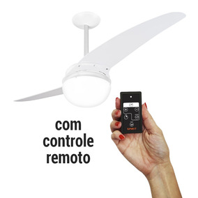 Ventilador De Teto Spirit 202 Branco Globo C. Remoto - 127v