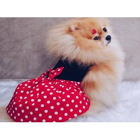 Roupa Pet Fantasia Vestido Minie P/ Caes Gatos Promoção