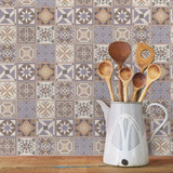 Adesivo De Azulejo Cozinha Lavanda 10 X 10cm 100 Unidades