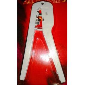 Alicate Terminales Telefono Crimpeadora Ponchadora Rj11