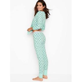Victorias Secret Pijama Set Color Menta Talla Mediana Amyglo