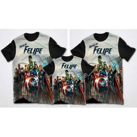 d3f7aa8985 Kit 3 Camisetas Promoção Personalizada Os Vingadores