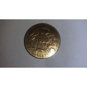 Moeda De 1000 Réis De 1927 /reverso Invertido. Raríssima.