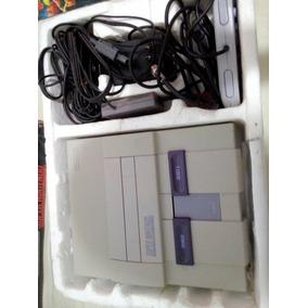 Super Nintendo Fat Snes Na Caixa Com Manuais