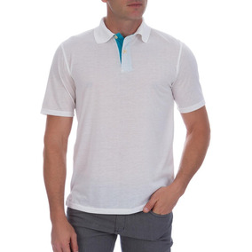 30169c8872 Camisa Polo Colombo Masculina Branca Com Detalhe 40875 por Camisaria Colombo