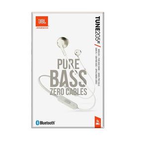 Fone De Ouvido Jbl Tune 205bt Bluetooth Com Microfone Branco