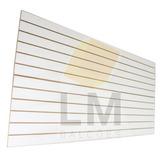 Painel Canaletado Branco Mdf 1,22x2,44 Cm 100 Ganchos