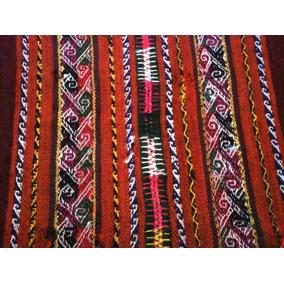 Aguallo Andino Muy Antiguo 80 Años Bordo Poncho No Acsu Inca