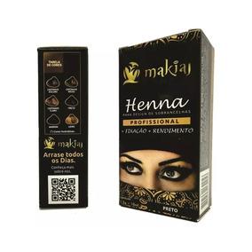 Henna P/ Sobrancelhas Makiaj Color Varias Cores 12 Unidades