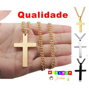 Cordão Corrente Colar Crucifixo Cruz