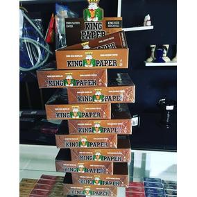 7 Caixa Seda Smoking King Paper Brown Grande Com 20 Cada