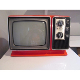 Mini Televisor Antiguo Zenith Naranja Coleccion 1977